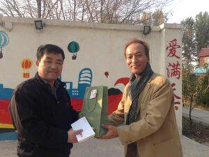 光愛学校へのチャリティー基金寄贈2013年10月26日