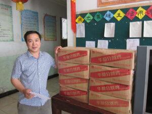 光愛学校への給食食材支援2014年5月29日