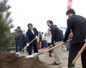 日中国交正常化40周年記念植樹祭2012年4月21日